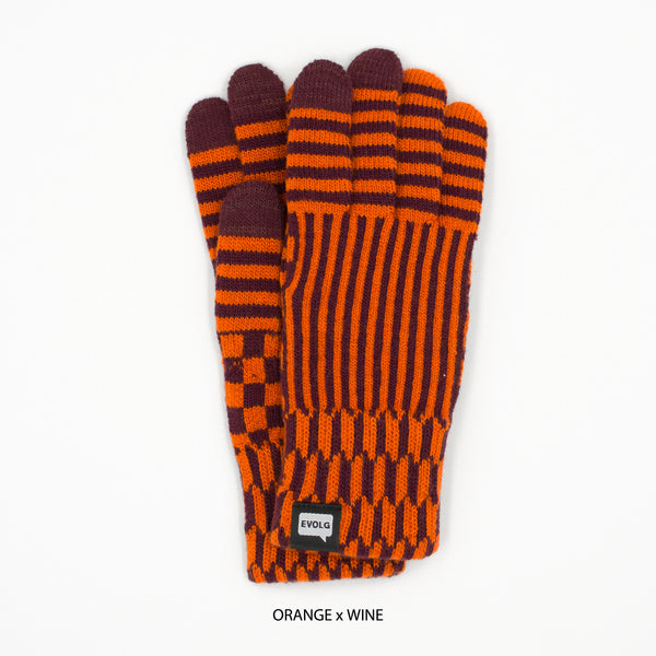 WACON UNISEX KNIT TOUCHSCREEN GLOVES (4 COLORS)