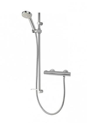 Aqualisa Midas 110 Thermostatic Bar Valve With Slide Rail Kit