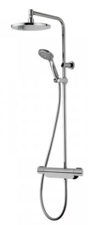 Aqualisa Midas Thermostatic Valve With Fixed Head & Slide Rail