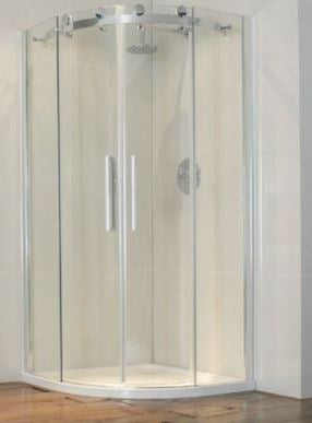 Aquaglass Frameless 2 Door Quad, 8mm