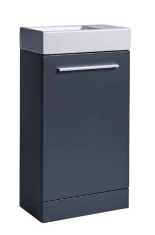 Kobe Cloakroom Floor Standing Vanity Unit & Basin, tv