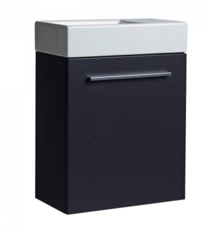 Kobe Cloakroom Wall Mounted Vanity Unit & Basin, tv