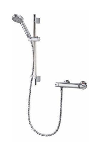 Aqualisa Midas 100 Thermostatic Bar Valve With Slide Rail Kit