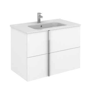 Onix Royo 2 Drawer Wall Hung Vanity Unit & Basin, FL