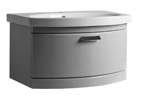 Tempo One Drawer Wall Mounted Vanity Unit & Basin, tv