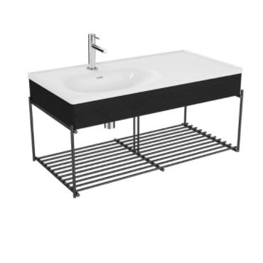 Vitra Equal 100cm basin unit with asymmetrical basin