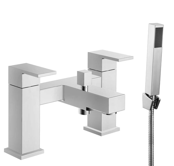 Bath Shower Mixer - Cube bath shower mixer HP1 - Aquaflow Brassware Collection