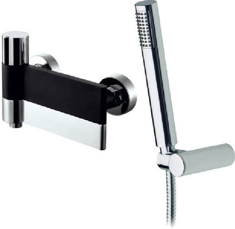 Bath Shower Mixer - Line wall-mounted bath shower mixer - Aquaflow Italia Brassware Collection