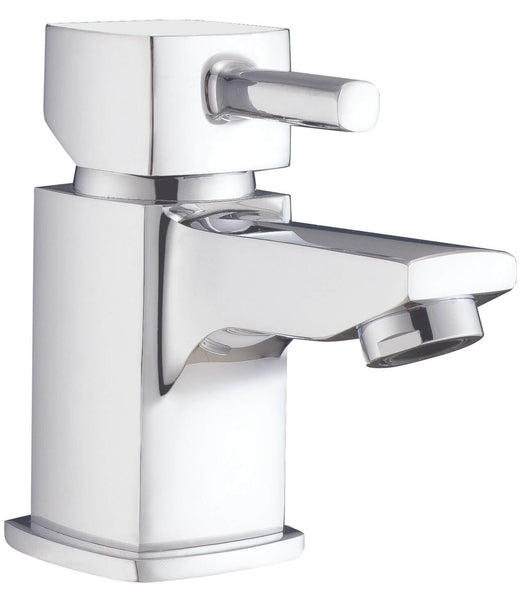 Basin Mono - Cubix2 mini basin mono with click-clack waste MP - Aquaflow Brassware Collection