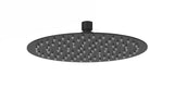 Shower Head - Round ultra thin shower head 300mm in Matt Black LP2 - Aquaflow Italia Create Your Own