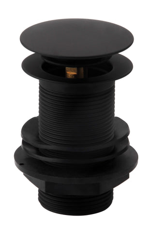 Basin Waste - Unslotted sprung plug basin waste in Matt Black - Accessories