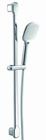 Shower - Dream slide rail kit with chrome flex hose and 3 jet hand shower (requires outlet elbow) - Aquaflow Italia Create Your Own