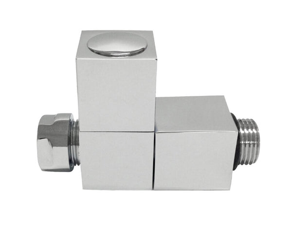Radiator Valves - Straight square radiator valve (single) - Towel Rails