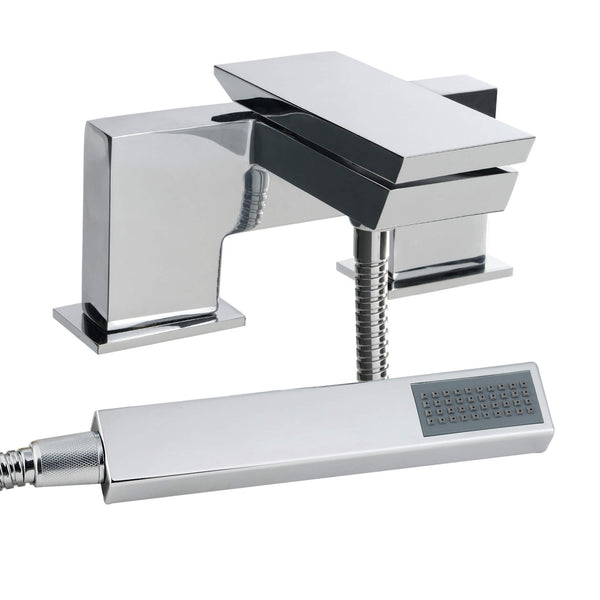 Bath Shower Mixer - Razor bath shower mixer HP2 - Aquaflow Italia Brassware Collection