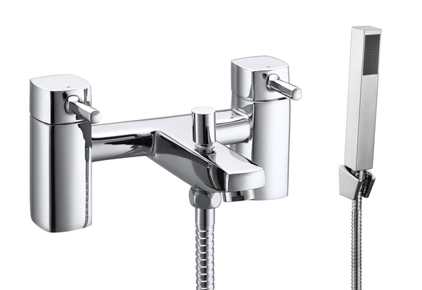 Bath Shower Mixer - Cubix2 bath shower mixer MP - Aquaflow Brassware Collection