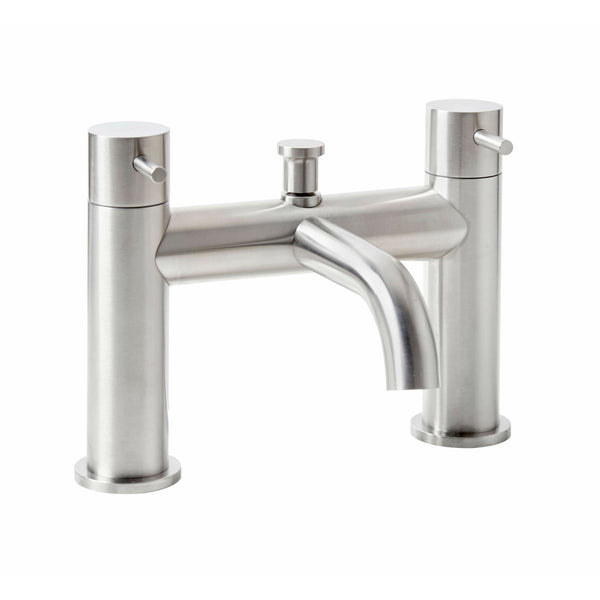 Bath Filler - Solito bath filler with a brushed steel finish MP - Aquaflow Edition Brassware Collection