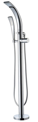 Bath Shower Mixer - Garda freestanding bath shower mixer MP - Aquaflow Brassware Collection