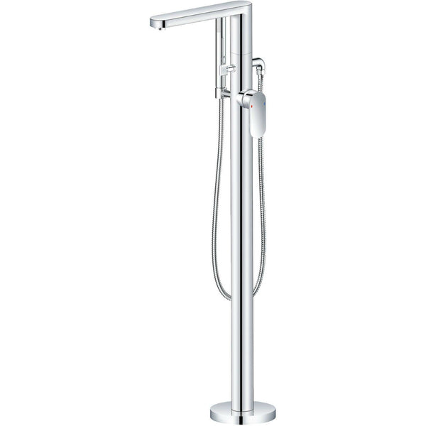Bath Shower Mixer - Sphere freestanding bath shower mixer MP - Aquaflow Brassware Collection