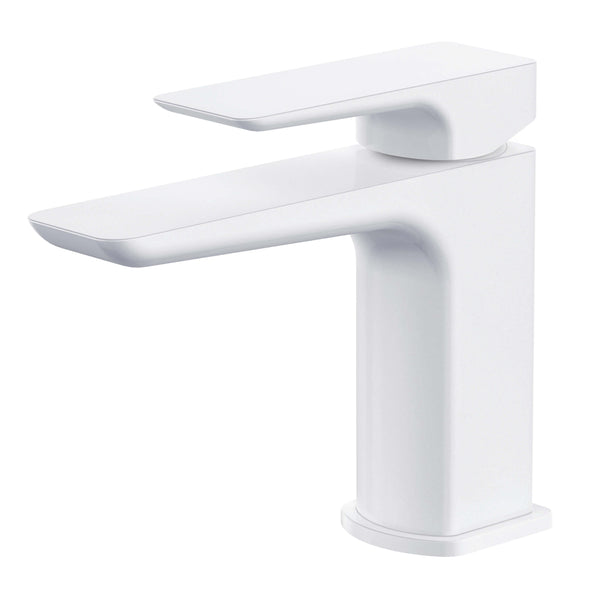 Basin Mono - Sabre White basin mono with click-clack waste MP - Aquaflow Edition Brassware Collection