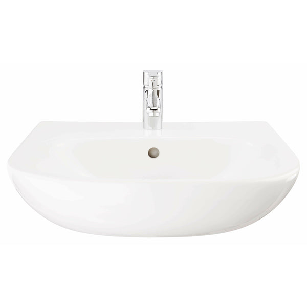 Basin - Tonique 520mm semi-recess basin (1 tap hole) - The Contemporary Collection