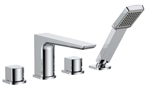 Bath Shower Mixer - Sabre 4 tap hole bath shower mixer MP - Aquaflow Edition Brassware Collection