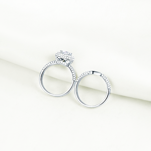 CHARME FÉMININ STERLING SILVER RING SET