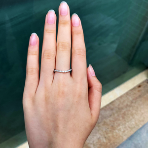 ROMANCE WAVE STERLING SILVER RING