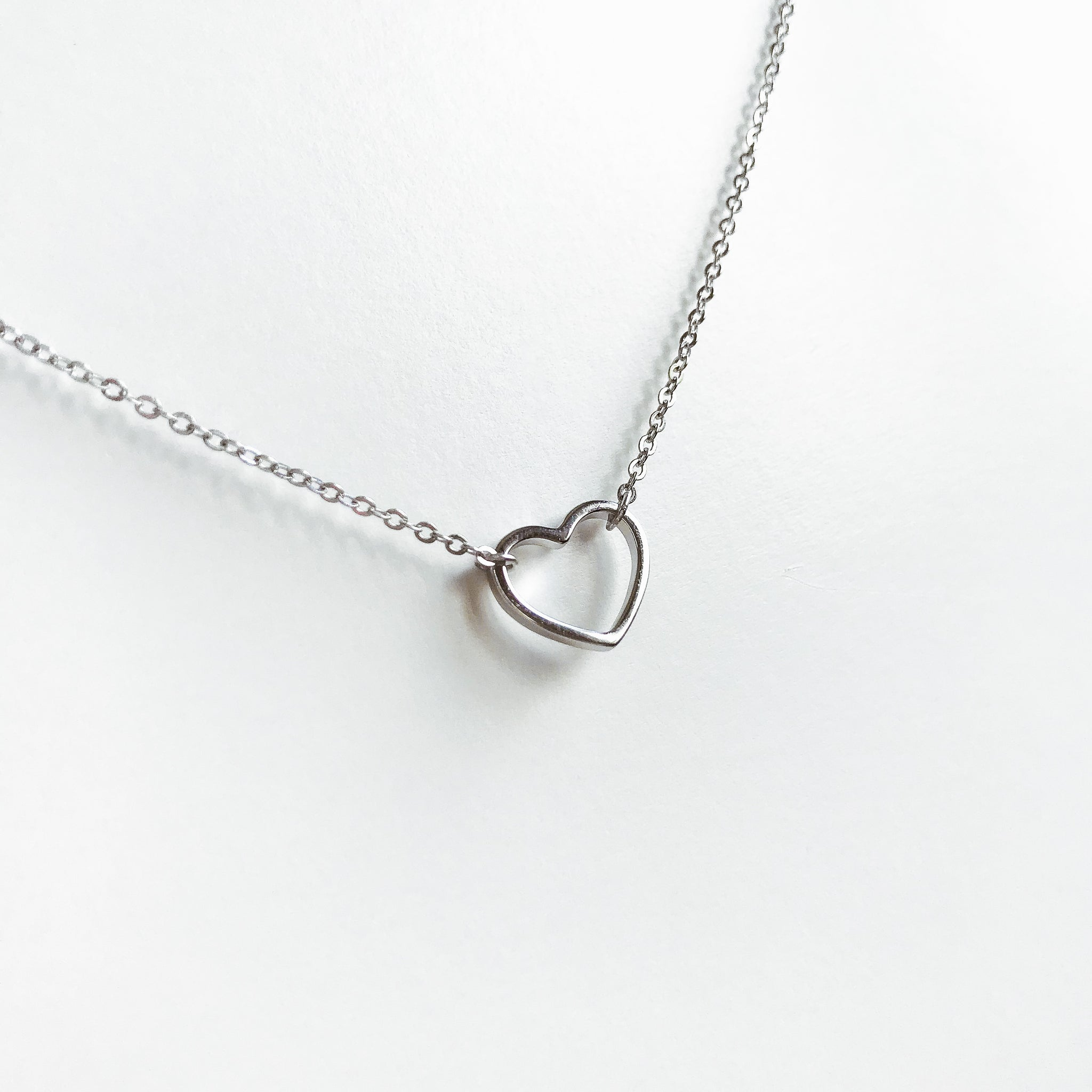 Dainty Heart Sterling Silver Necklace