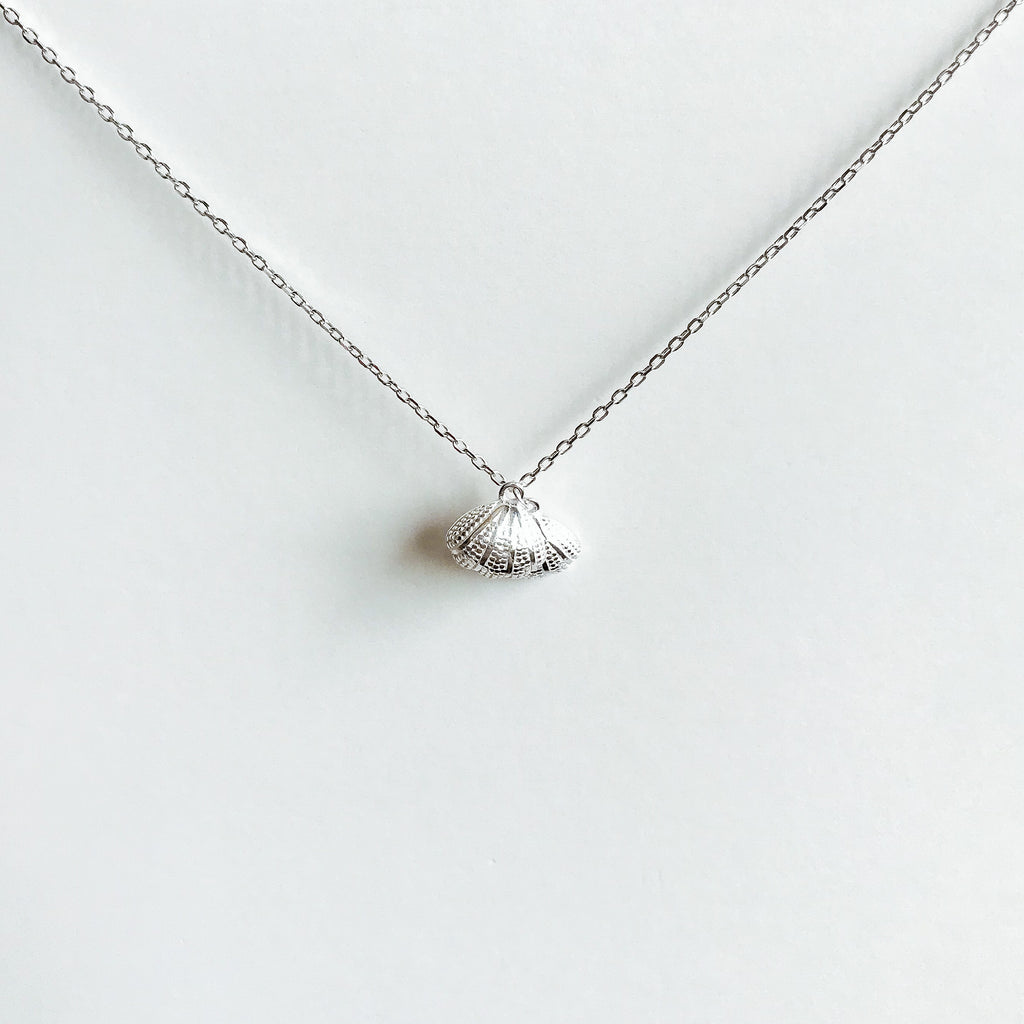 Seashell Pendant Sterling Silver Necklace