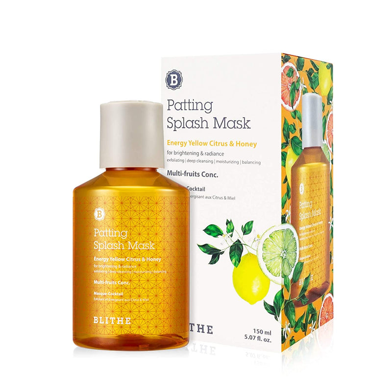 Blithe Patting Splash Mask -Energy Yellow Citrus & Honey - 150ml