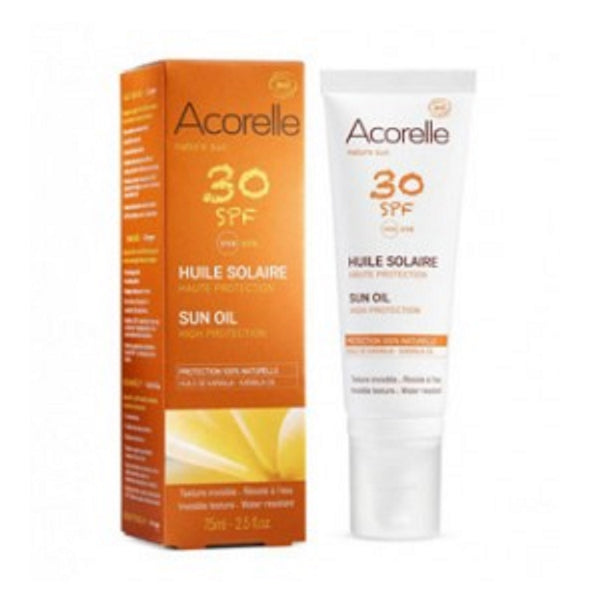 Acorelle 100% Natural Sun Oil SPF30 75ml