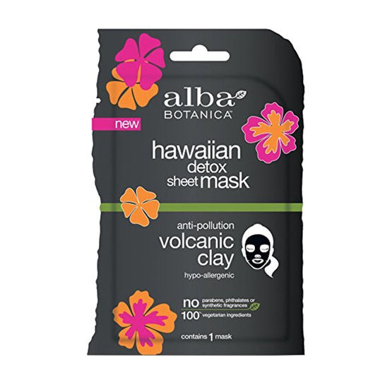 Alba Botanica Anti-Pollution Volcanic Clay Hawaiian Detox Sheet Mask