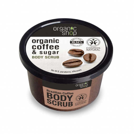 Organic Shop Brazilian Coffee Natural Body Polish - 250ml
