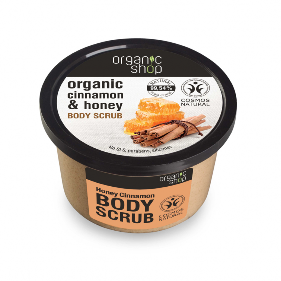 Organic Shop Honey & Cinnamon Natural Body Scrub - 250ml