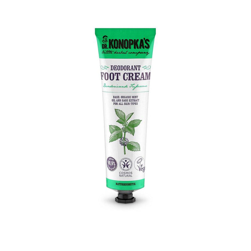 Dr Konopka Natural Foot Cream Deodorant - 75ml