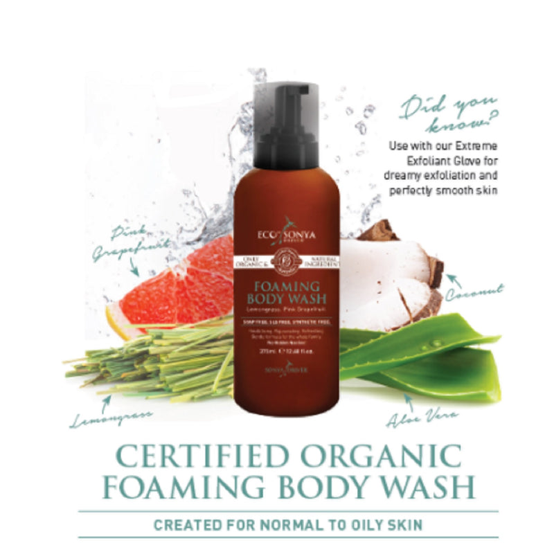 Eco by Sonya Lemongrass & Pink Grapefruit Foaming Body Wash 375ml