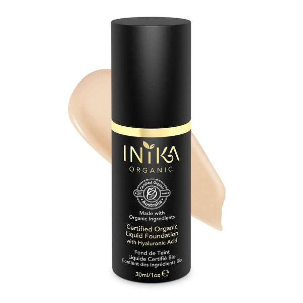 Inika Certified Organic Liquid Foundation with Hyaluronic Acid