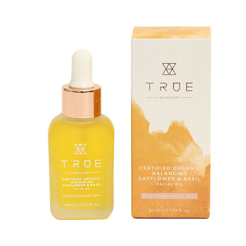 True Skincare Organic Balancing Safflower & Basil Facial Oil, 30ml