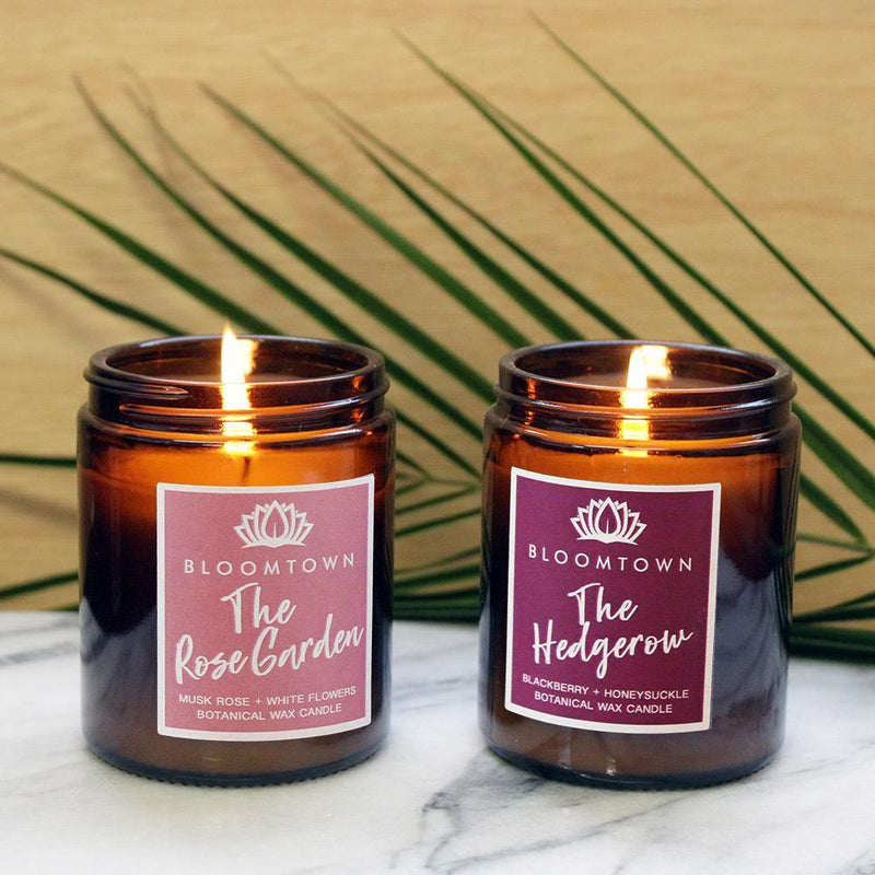 Bloomtown Scented Botanical Wax Candles