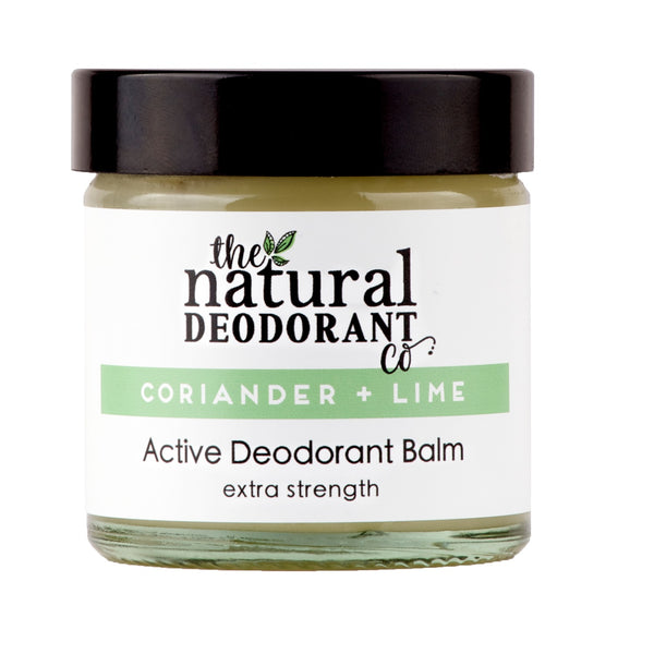 Natural Deodorant Co Active Deodorant Balm Lime + Coriander - 55g