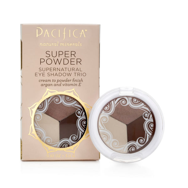 Pacifica Super Powder Natural Eye Shadow Trio Stone, Cold, Fox