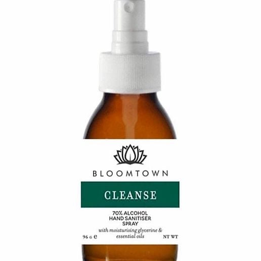 Bloomtown Botanicals Hand Sanitizer Spray 70% Alcohol - Natural & Organic (100 ml)