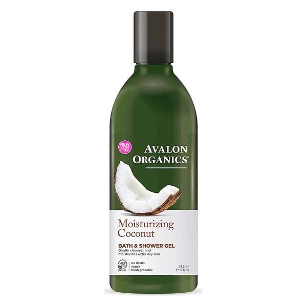 Avalon Organics Moisturizing Coconut Bath & Shower Gel - 355ml/ 12 oz