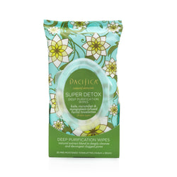 Pacifica Super Detox Deep Purification Wipes 30pk
