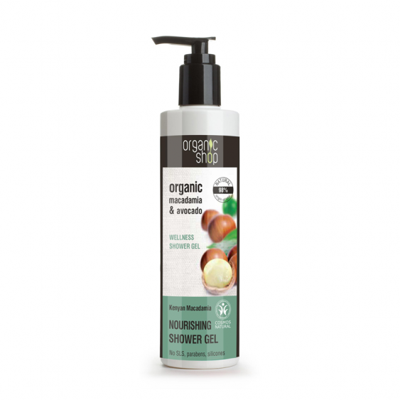 Organic Shop Kenyan Macadamia Nourishing Shower Gel - 250ml