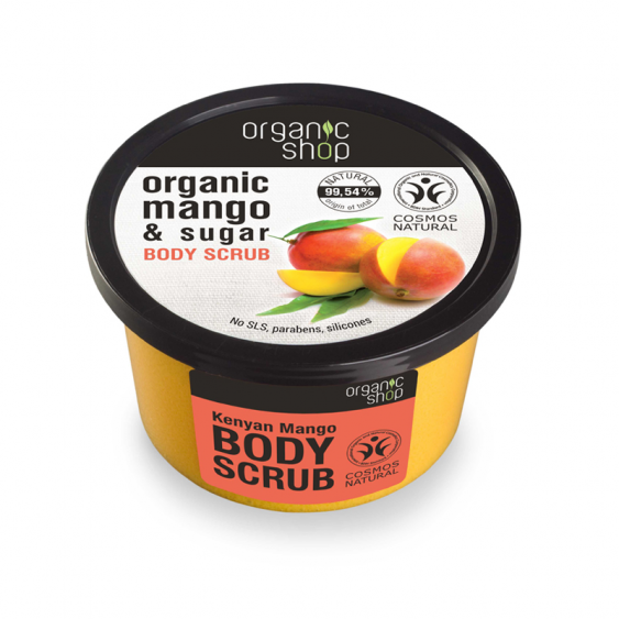 Organic Shop Kenyan Mango Natural Body Scrub - 250ml