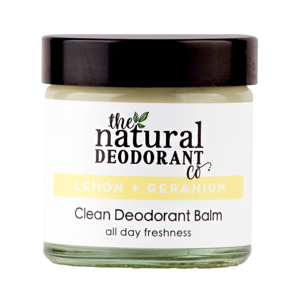 Natural Deodorant Co  Clean Deodorant Balm Lemon + Geranium - 55g