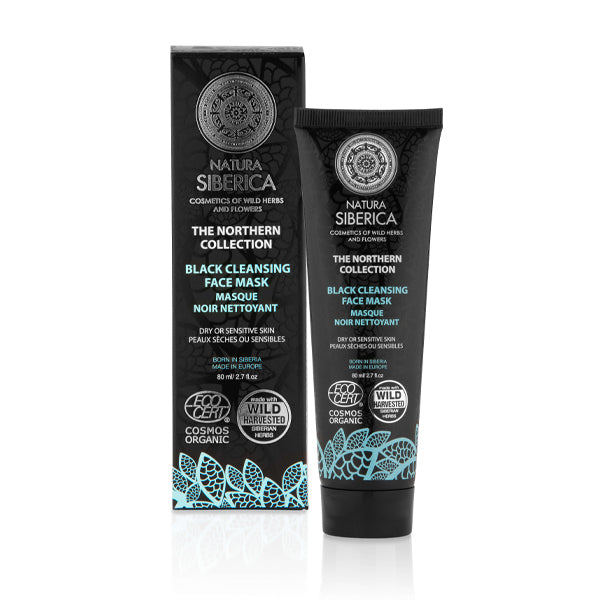 Natura Siberica Black Cleansing Face Mask for Dry or Sensitive Skin 80ml