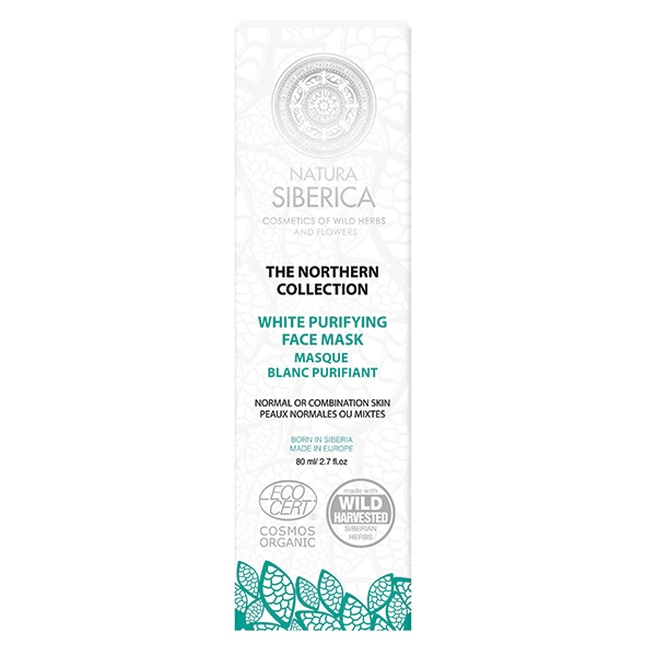 Natura Siberica White Purifying Mask for Normal to Combination Skin 80ml