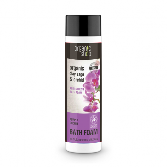 Organic Shop Purple Orchid Anti-Stress Bath Foam  - 500ml